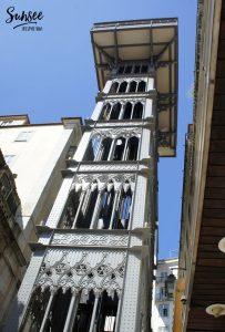 LISBONNE : l'ascenseur Santa Justa